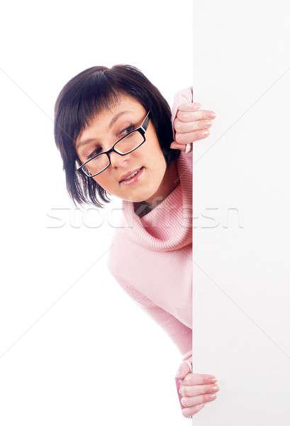 Vrouw naast jonge mooie vrouw naar Stockfoto © Aikon