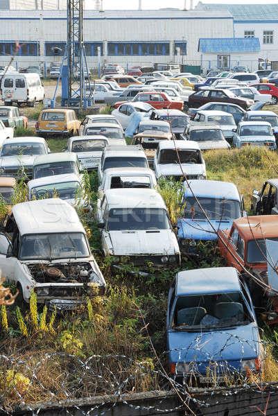 Dump of old cars Stock photo © Aikon