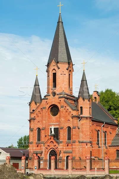 カトリック教徒 大聖堂 教会 建物 市 風景 ストックフォト © Aikon