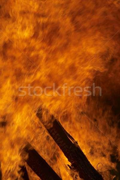 Incendi boschivi grande fuoco foresta fumo Foto d'archivio © Aikon