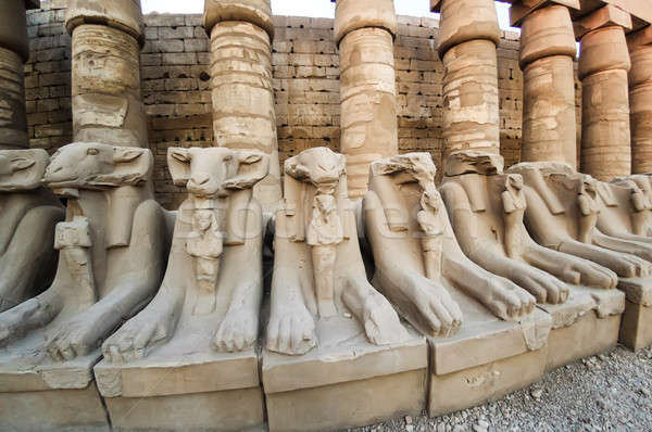 Sculptures of the Karnak temple in Luxor Stock photo © Aikon