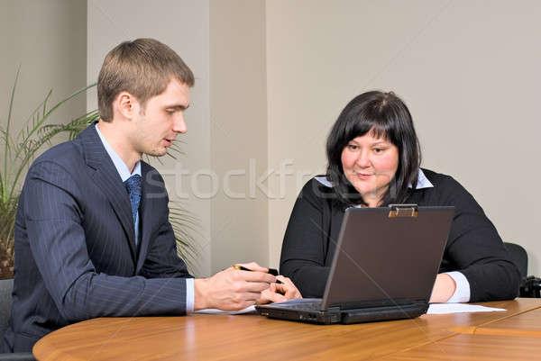 Werken kantoor zakenlieden vergadering business Stockfoto © Aikon
