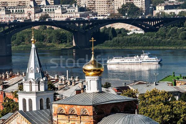 Vue pont Russie temple saint prophète Photo stock © Aikon