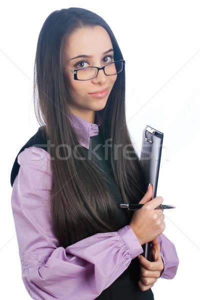 Atraente negócio senhora sorridente jovem empresária Foto stock © Aikon