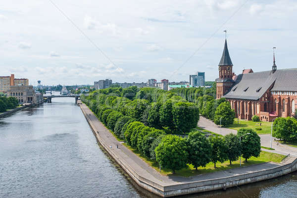 View on Pregolya river in Kaliningrad Stock photo © Aikon