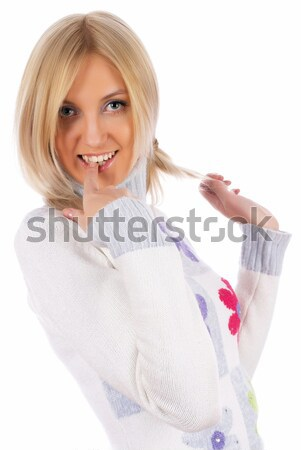 Pretty girl defends Stock photo © Aikon