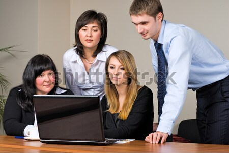 бизнесмен служба ведущий команда деловые люди рабочих Сток-фото © Aikon