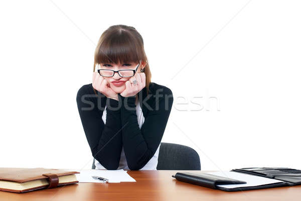 Portrait of businesswoman with organizer Stock photo © Aikon