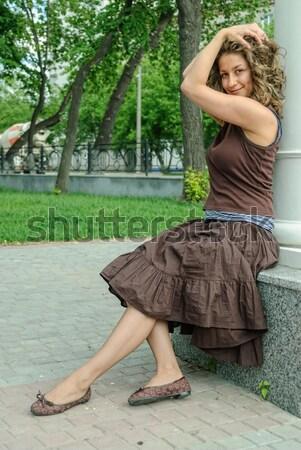 portrait of young beautiful woman Stock photo © Aikon