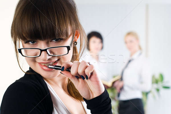 Young attractive business lady Stock photo © Aikon
