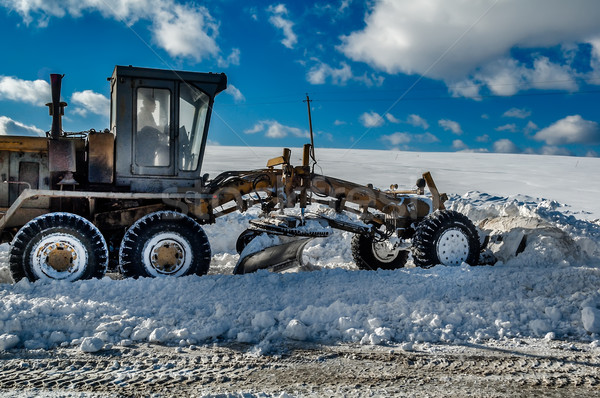 Snow grader Stock photo © Aikon