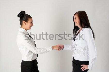 Boss and secretary communicating Stock photo © Aikon