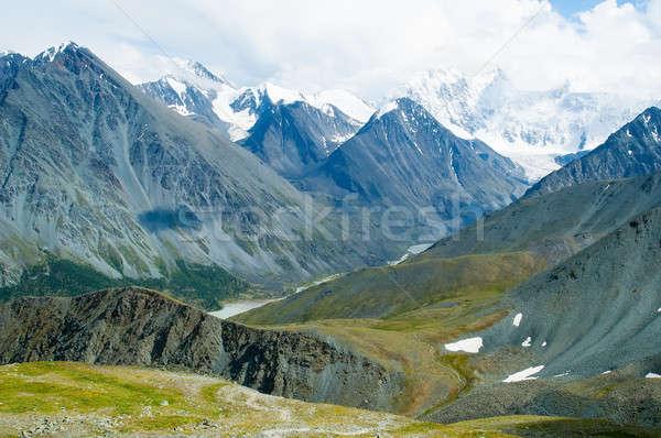 Hegyek terjedelem csúcs természet tájkép hó Stock fotó © Aikon