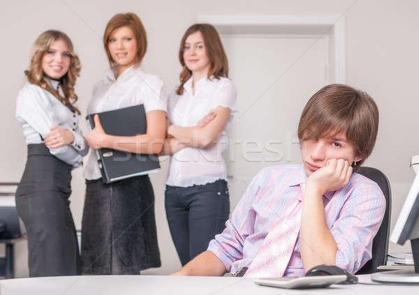 疲れ チーフ オフィス チーム 女の子 ビジネス ストックフォト © Aikon