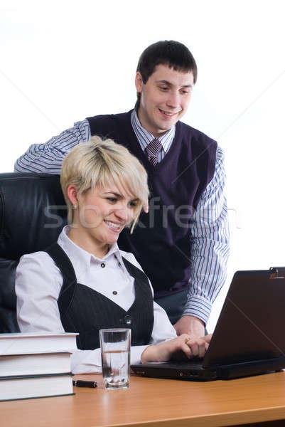 女性実業家 コンピュータ 作業 同僚 ビジネス 女性 ストックフォト © Aikon