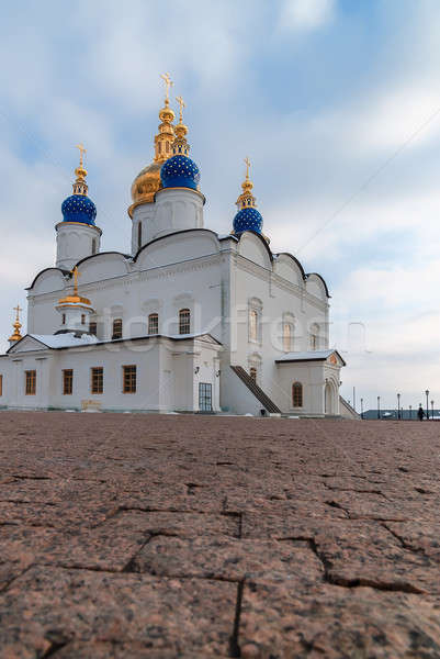 Cathédrale Kremlin complexe fondation année ciel Photo stock © Aikon