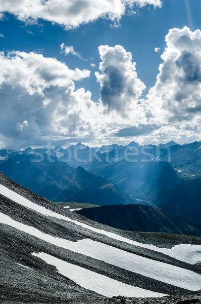 Sunbeams in mountains, Altai. Russia Stock photo © Aikon