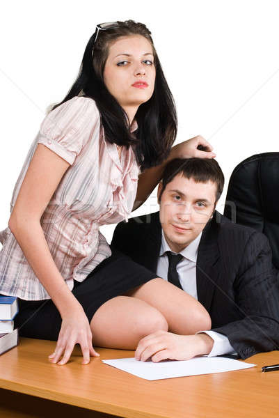 Boss and him secretary Stock photo © Aikon
