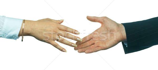 Business handshake Stock photo © Aikon