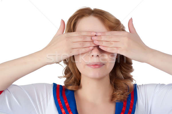 Pretty woman with see no evil Stock photo © Aikon