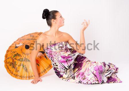 Laying pretty girl Stock photo © Aikon