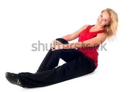 Tánc hiphop táncos tánc lány modern Stock fotó © Aikon
