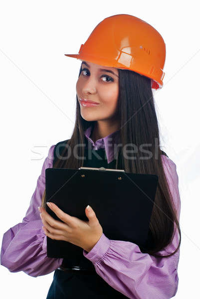 Attractive girl in helmet Stock photo © Aikon