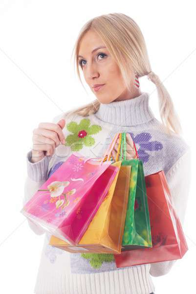 Shopping girl Stock photo © Aikon