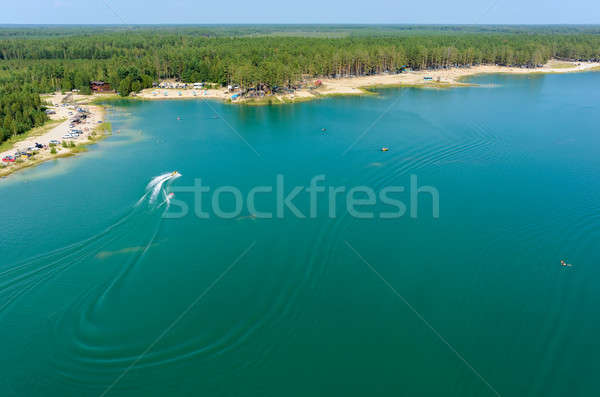 Bleu lac plage Russie gonflable Photo stock © Aikon