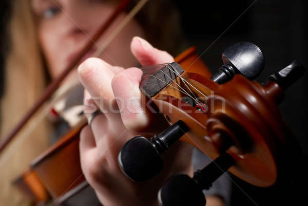 Girl with violin Stock photo © Aikon