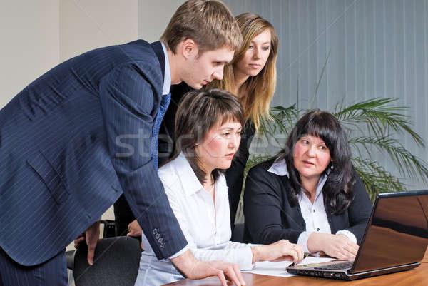 смешанный группа деловое совещание деловые люди рабочих Сток-фото © Aikon
