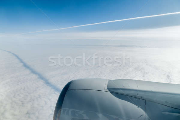 Passenger Plane On Final Approach Stock photo © Aikon
