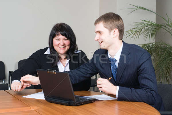 Businessgroup with laptop Stock photo © Aikon