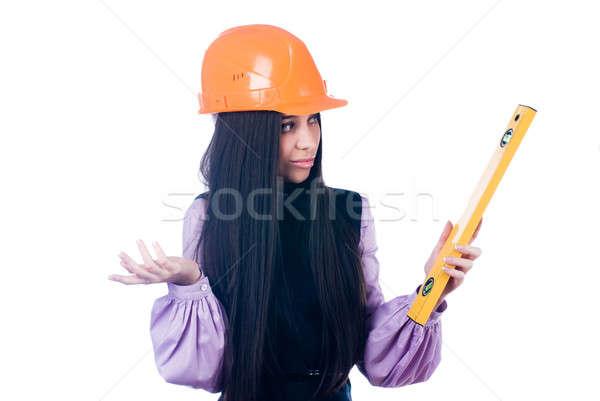 Menina nível jovem feminino trabalhador proteção Foto stock © Aikon
