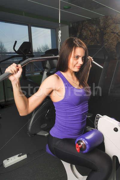 Beautiful muscular fit woman exercising Stock photo © Aikon