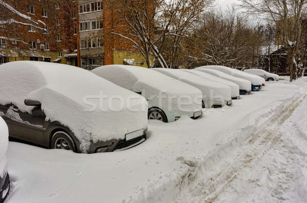 A cars under the snow Stock photo © Aikon