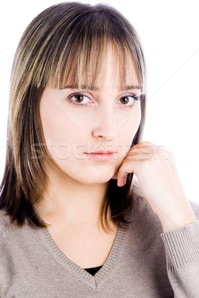 Attractive sad woman Stock photo © Aikon