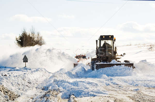 snowplow clearing road Stock photo © Aikon