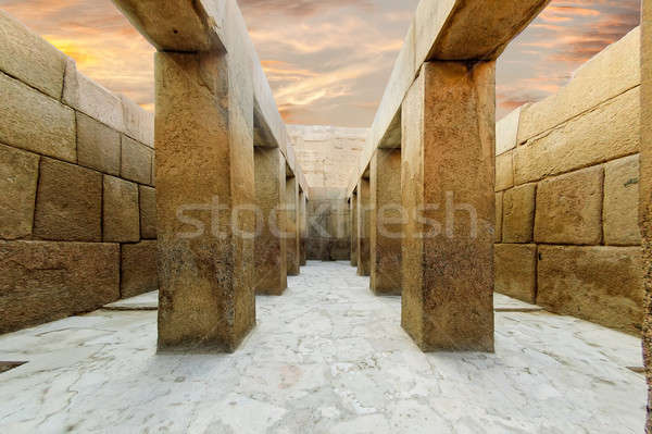 Valley Temple of Khafre Stock photo © Aikon