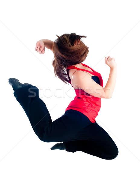 Genç dans kız korkak güzel bir kadın hip-hop Stok fotoğraf © Aikon
