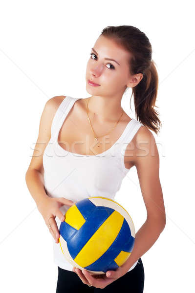 young  beauty volleyball player Stock photo © Aikon