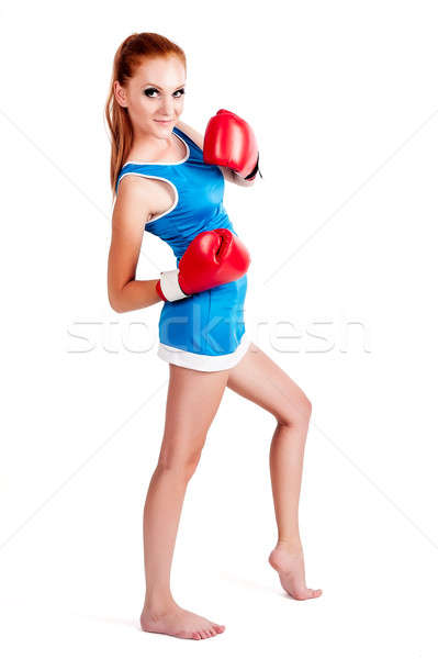 woman with boxing gloves Stock photo © Aikon