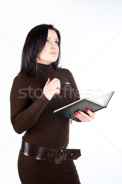 魅力的な ビジネス 女性 日記 美しい 小さな ストックフォト © Aikon
