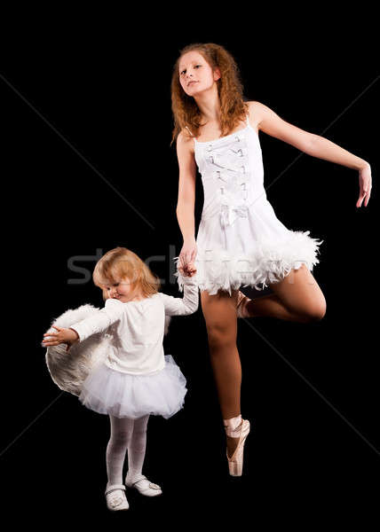 Stock photo: Two pretty ballerina's