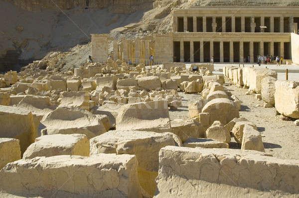 Hatchepsut Templ ruins Stock photo © Aikon