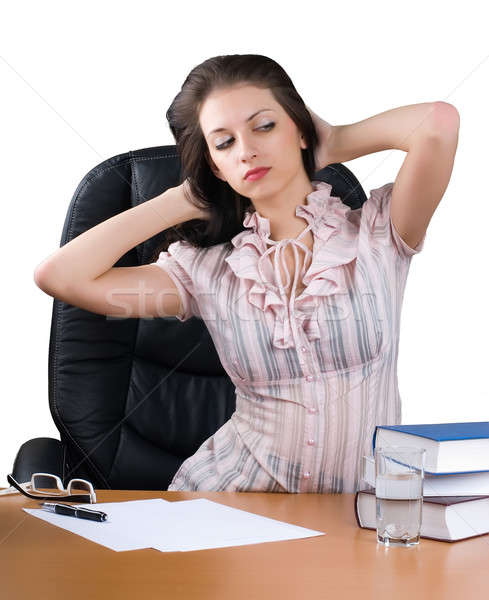 Lady-boss in office Stock photo © Aikon