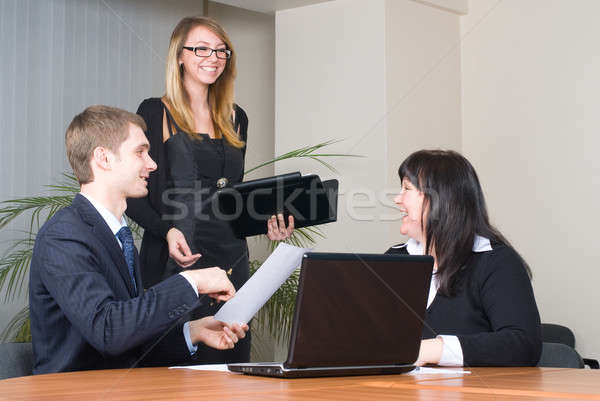 Stock photo: Businessgroup with laptop