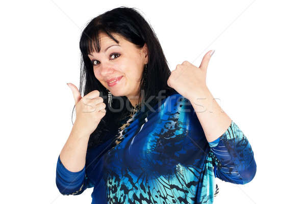 Pretty woman with thumbs up Stock photo © Aikon