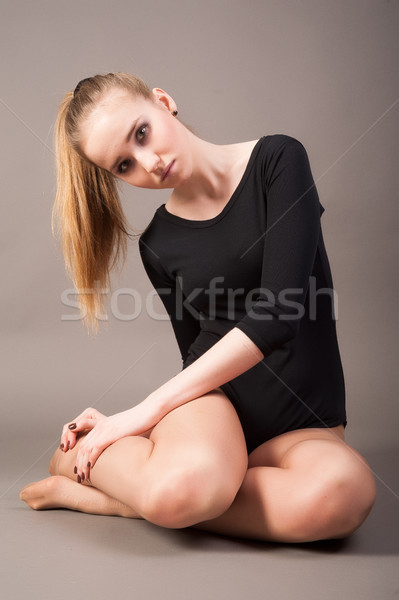 flexible athletic woman Stock photo © Aikon