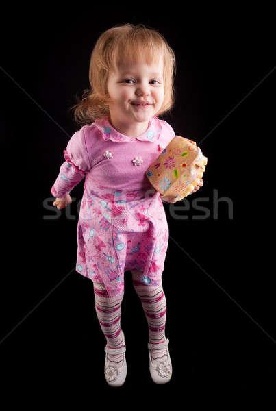 Ritratto adorabile giovane ragazza piccolo anni Foto d'archivio © Aikon